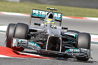 12.05.2012. Circuit de Catalunya, Montmeol, Spain, One the 3rd Practice Session. Picture show  Nico Rosberg (German driver of Mercedes GP)