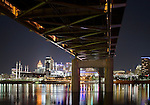 The Taylor Southgate Bridge Over The Ohio River At Cincinnati, Night Scene