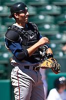 Jason Castro April 14th, 2010; MiLB action, Round Rock Express vs Oklahoma City Redhawks at AT&T Bricktown Ballpark in Oklahoma City,  Oklahoma
