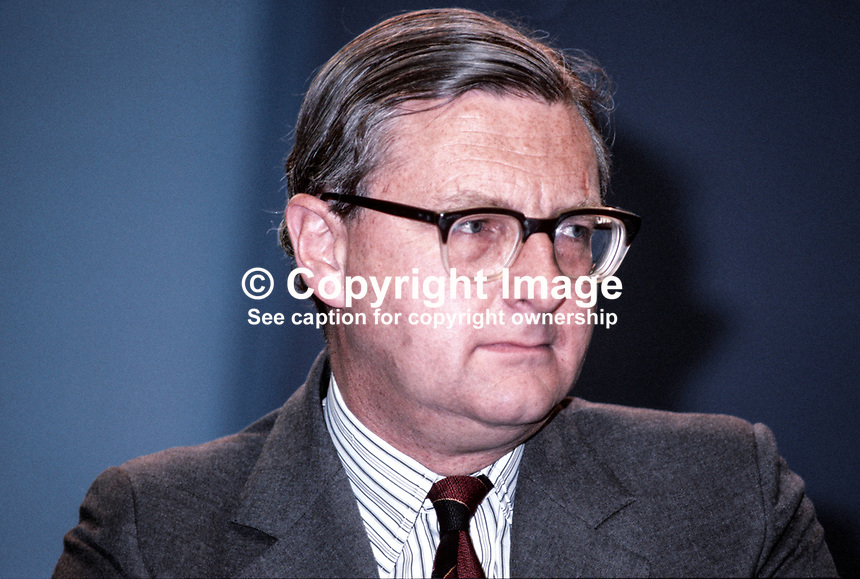 Patrick Mayhew, MP, Conservative Party, Under Secretary of State, Department of the Environment, UK, 198010000319c.<br />
