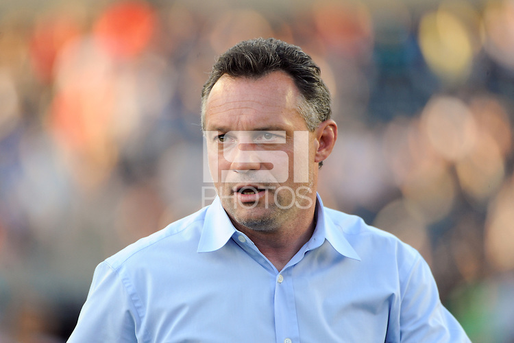 Philadelphia Union manager Peter Nowak. The Philadelphia Union defeated CD Chivas USA 3-0 during a Major League Soccer (MLS) match at PPL Park in Chester, PA, on September 25, 2010.