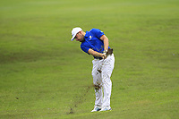 Tyrrell Hatton (Europe) on the 1st fairway during the Friday Foursomes of the Eurasia Cup at Glenmarie Golf and Country Club on the 12th January 2018.<br /> Picture:  Thos Caffrey / www.golffile.ie