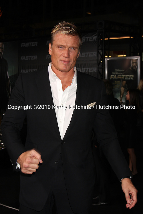 "LOS ANGELES - NOV 22:  Dolph Lundgren arrives at the ""Faster"" LA Premiere at Grauman's Chinese Theater on November 22, 2010 in Los Angeles, CA"