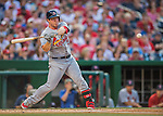 28 May 2016: St. Louis Cardinals infielder Jedd Gyorko in action against the Washington Nationals at Nationals Park in Washington, DC. The Cardinals defeated the Nationals 9-4 to take a 2-games to 1 lead in their 4-game series. Mandatory Credit: Ed Wolfstein Photo *** RAW (NEF) Image File Available ***