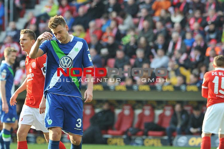 22.03.2015, cofacearena, Mainz, GER, FSV Mainz 05 vs. VfL Wolfsburg, im Bild: Nicklas Bendtner (#3, VfL Wolfsburg)<br /> <br /> Foto &copy; nordphoto / Fabisch