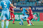 Jiangsu FC Forward Roger Beyker Martinez (L) fights for the ball with Shanghai FC Defender Shi Ke (R) during the AFC Champions League 2017 Round of 16 match between Jiangsu FC (CHN) vs Shanghai SIPG FC (CHN) at the Nanjing Olympic Stadium on 31 May 2017 in Nanjing, China. Photo by Marcio Rodrigo Machado / Power Sport Images