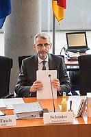 """39. Sitzung des """"1. Untersuchungsausschuss"""" der 19. Legislaturperiode des Deutschen Bundestag am Donnerstag den 14. Februar 2019 zur Aufklaerung des Terroranschlag durch den islamistischen Terroristen Anis Amri auf den Weihnachtsmarkt am Berliner Breitscheidplatz im Dezember 2016.<br /> Einziger Punkt der Tagesordnung: Öffentliche Zeugenvernehmung<br /> Auf der Tagesordnung standen die Vernehmungen der Staatsanwaelte<br /> Dr. Wolfgang Kowalzik aus Arnsberg und Jan-Hendrik Schumpich aus Berlin sowie des LKA-Mitarbeiter Axel B. vom Landeskriminalamt-Berlin.<br /> Im Bild: Der Ausschussvorsitzende Armin Schuster, CDU.<br /> 14.2.2019, Berlin<br /> Copyright: Christian-Ditsch.de<br /> [Inhaltsveraendernde Manipulation des Fotos nur nach ausdruecklicher Genehmigung des Fotografen. Vereinbarungen ueber Abtretung von Persoenlichkeitsrechten/Model Release der abgebildeten Person/Personen liegen nicht vor. NO MODEL RELEASE! Nur fuer Redaktionelle Zwecke. Don't publish without copyright Christian-Ditsch.de, Veroeffentlichung nur mit Fotografennennung, sowie gegen Honorar, MwSt. und Beleg. Konto: I N G - D i B a, IBAN DE58500105175400192269, BIC INGDDEFFXXX, Kontakt: post@christian-ditsch.de<br /> Bei der Bearbeitung der Dateiinformationen darf die Urheberkennzeichnung in den EXIF- und  IPTC-Daten nicht entfernt werden, diese sind in digitalen Medien nach §95c UrhG rechtlich geschuetzt. Der Urhebervermerk wird gemaess §13 UrhG verlangt.]"""
