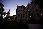 Basilica and Main Building at dusk, Aug. 31, 2009..Photo by Matt Cashore/University of Notre Dame