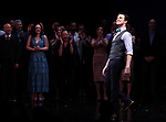 Gavin Creel and cast during the curtain Call bows for the Actors Fund's 15th Anniversary Reunion Concert of 'Thoroughly Modern Millie' on February 18, 2018 at the Minskoff Theatre in New York City.