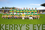 The Kerry team who played Cork last Wednesday night in Pairc Ui Chaoimh, Cork in the Munster GAA Junior Football Championship..F l-r: Colin O'Mahony,Francis Courtney, Brian McGuire, Gavin O'Grady, Kevin O'Dwyer, Sean Og O Ciardubhain, Pa Kilkenny, Eamon Hickson,  Tom McGoldrick...B l-r James Walsh, Andrew Garnett, Gary Sayers, Michael Murphy, Shane Brosnan, Brendan Poff, Paul Kennelly, Brian Costello, Alan Fitzgerald,..1Sean Og O Ciardubhain, 2Kevin O'Dwyer,  3Shane Brosnan,  4Colin O'Mahony,  5 Eamon Hickson,  6Brian McGuire, 7James Walsh,  8Brian Costello,  9Andrew Garnett,  10Gary Sayers,  11Michael Murphy,  12Paul Kennelly,  13Gavin O'Grady,  14Brendan Poff,  15 Alan Fitzgerald, Kieran O'Connor, Tom McGoldrick...16Paul O'Sullivan, 17Pa Kilkenny, 18Mike Coakley,  19Tom McGoldrick, 20Kieran O'Connor,  21Francis Courtney, 22Padraig O'Connor, 23David O'Callaghan, 24Gary O'Driscoll.