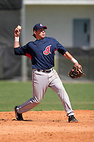Cleveland Indians minor leaguer Niuman Romero during Spring Training at the Chain of Lakes Complex on March 17, 2007 in Winter Haven, Florida.  (Mike Janes/Four Seam Images)