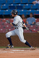 Derek Dietrich #32 of the Georgia Tech Yellow Jackets follows through on his swing versus the Wake Forest Demon Deacons at Wake Forest Baseball Park April 18, 2009 in Winston-Salem, NC. (Photo by Brian Westerholt / Four Seam Images)