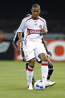 Chicago Fire forward Andy Herron (26) shields the ball. DC United defeated the Chicago Fire 1-0, Wednesday, June 21, 2006.