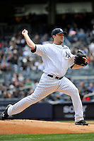 Apr 03, 2011; Bronx, NY, USA; New York Yankees pitcher Phil Hughes (65) during game against the Detroit Tigers at Yankee Stadium. Tigers defeated the Yankees 10-7. Mandatory Credit: Tomasso De Rosa