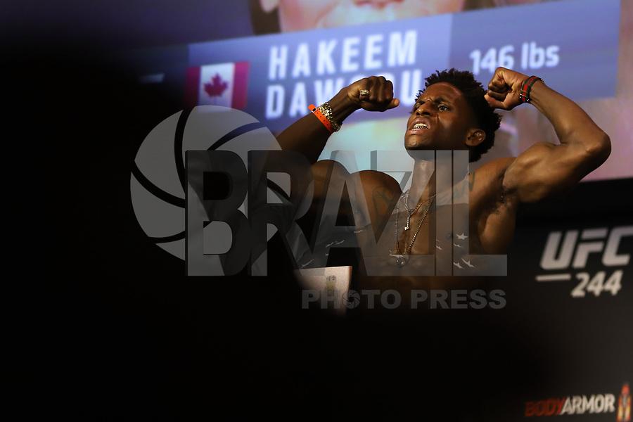 Nova York, EUA, 01.10.2019 - UFC-NOVA YORK - Hakeen Dawodu durante pesagem UFC 244no Madsion Square Garden na cidade de Nova York nesta sexta-feira, 01. A luta acontece no sábado 02. (Foto: Vanessa Carvalho/Brazil Photo Press/Folhapress)