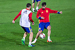 Spainsh Dani Carvajal and Nolito during the training at Nuevo Los Carmenes Stadium in Granada, Spain. November 11, 2016. (ALTERPHOTOS/Rodrigo Jimenez)