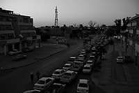 Sebha, Libya, March 30, 2011..The embargo against Libya is starting to take a toll on the economy, the most visible sign being the long queues at the rare petrol stations still open..