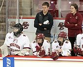 Molly Barrow (BC - 1), Molly Slowe (BC - 14), Aaron Clark (BC - Athletic Trainer), Rachel Moore (BC - 8), Gillian Apps (BC - Assistant Coach) - The Boston College Eagles defeated the visiting University of Maine Black Bears 2-1 on Saturday, October 8, 2016, at Kelley Rink in Conte Forum in Chestnut Hill, Massachusetts.  The University of North Dakota Fighting Hawks celebrate their 2016 D1 national championship win on Saturday, April 9, 2016, at Amalie Arena in Tampa, Florida.