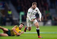 Elliot Daly of England gets past Jack Maddocks of Australia. Quilter International match between England and Australia on November 24, 2018 at Twickenham Stadium in London, England. Photo by: Patrick Khachfe / Onside Images