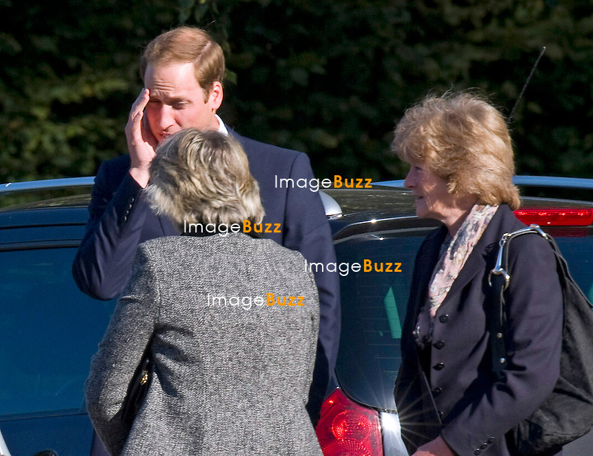 PRINCE WILLIAM.attends the funeral of his nanny Olga Powell, who died recently at the age of 82-years old. The service was held at Harlow Cremotorium, Harlow, Essex.Princess Diana's sisters Lady Jane Fellowes and Lady sarah McCorquadale were also present. 10/10/2012.