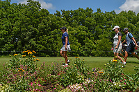 Cristie Kerr (USA) and Karine Icher (FRA) make their way to the tee on 11 during round 1 of the 2018 KPMG Women's PGA Championship, Kemper Lakes Golf Club, at Kildeer, Illinois, USA. 6/28/2018.<br /> Picture: Golffile | Ken Murray<br /> <br /> All photo usage must carry mandatory copyright credit (&copy; Golffile | Ken Murray)