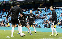 Burnley players during the pre-match warm-up at the Etihad Stadium<br /> <br /> Photographer Rich Linley/CameraSport<br /> <br /> Emirates FA Cup Fourth Round - Manchester City v Burnley - Saturday 26th January 2019 - The Etihad - Manchester<br />  <br /> World Copyright © 2019 CameraSport. All rights reserved. 43 Linden Ave. Countesthorpe. Leicester. England. LE8 5PG - Tel: +44 (0) 116 277 4147 - admin@camerasport.com - www.camerasport.com