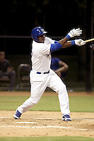 Yasiel Puig, who signed a contract with the Dodgers after defecting from his native Cuba, plays in his first professional game with the AZL Dodgers against the AZL Giants at Camelback Ranch on August 1, 2012 in Glendale, Arizona (Bill Mitchell)