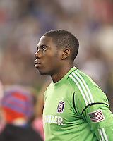 Chicago Fire goalkeeper Sean Johnson (25). In a Major League Soccer (MLS) match, the New England Revolution defeated Chicago Fire, 1-0, at Gillette Stadium on October 20, 2012.