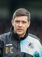 Darrell Clarke manager of Bristol Rovers during the Sky Bet League 2 match between Wycombe Wanderers and Bristol Rovers at Adams Park, High Wycombe, England on 27 February 2016. Photo by Andrew Rowland.