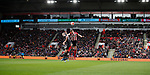Advertising boards during the Premier League match at Bramall Lane, Sheffield. Picture date: 7th March 2020. Picture credit should read: Simon Bellis/Sportimage