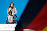 Anna Schaffelhuber (GER), MARCH 11, 2018 - Alpine Skiing : Women's Super G Sitting Medal Ceremony at PyeongChang Medals Plaza during the PyeongChang 2018 Paralympics Winter Games in Pyeongchang, South Korea. (Photo by Yusuke Nakanishi/AFLO SPORT)