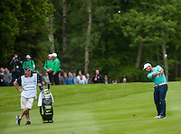 24.05.2015. Wentworth, England. BMW PGA Golf Championship. Final Round.  Francesco Molinari [ITA] approach shot to the 17th green, during the final round of the 2015 BMW PGA Championship from The West Course Wentworth Golf Club
