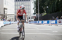 Tim Wellens (BEL/Lotto-Soudal) has done his part for the team and now pedals towards the finish<br /> <br /> Elite Men&rsquo;s Team Time Trial<br /> UCI Road World Championships Richmond 2015 / USA