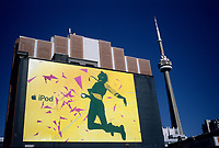 an I Pod giant billboard ad on King and Spadina street<br />