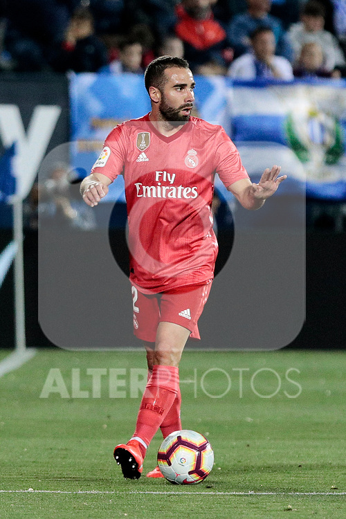 Real Madrid's Dani Carvajal during La Liga match between CD Leganes and Real Madrid at Butarque Stadium in Leganes, Spain. April 15, 2019. (ALTERPHOTOS/A. Perez Meca)