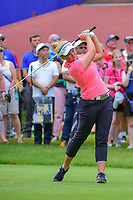 Brooke M. Henderson (CAN) watches her tee shot on 10 during Friday's round 2 of the 2017 KPMG Women's PGA Championship, at Olympia Fields Country Club, Olympia Fields, Illinois. 6/30/2017.<br /> Picture: Golffile | Ken Murray<br /> <br /> <br /> All photo usage must carry mandatory copyright credit (&copy; Golffile | Ken Murray)
