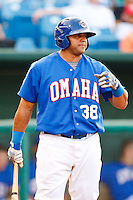 July 2nd, 2010 Edwin Bellorin (38) in action during MiLB play between the Iowa Cubs and the Omaha Royals. Iowa Cubs won 5-3 at Rosenblatt Stadium, Omaha Nebraska.