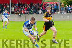 `Shannon Rangers V Dr. Crokes: Jason Foley wins the ball closely watched by Dr. Drokes Barry O'Grady.