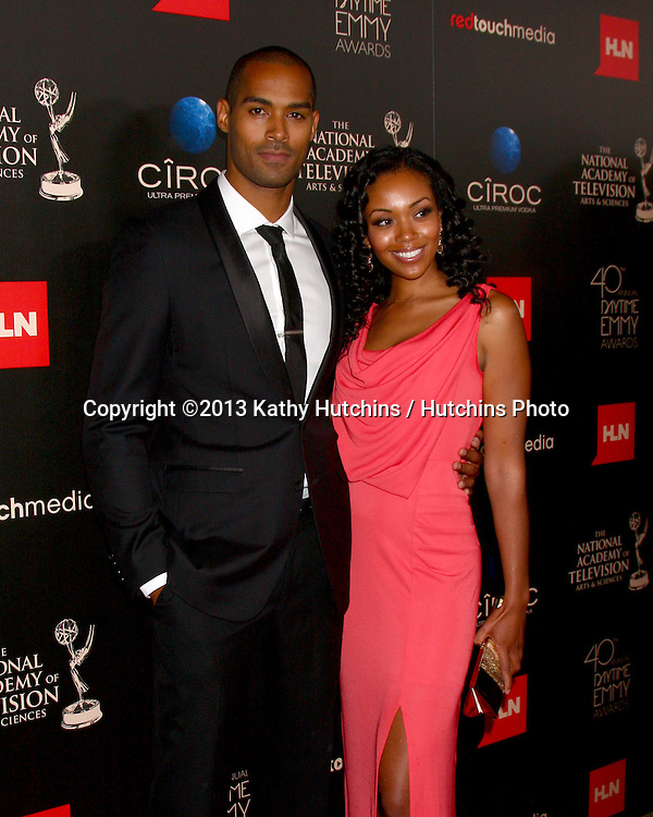 LOS ANGELES - JUN 16:  Lamon Archey, Mishael Morgan arrives at the 40th Daytime Emmy Awards at the Skirball Cultural Center on June 16, 2013 in Los Angeles, CA