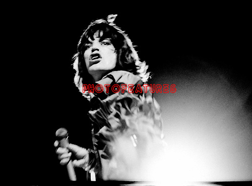 Rolling Stones 1976 Mick Jagger.© Chris Walter.
