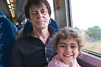 Safi and Nadine on Train To Hollyhead 24th July 2009