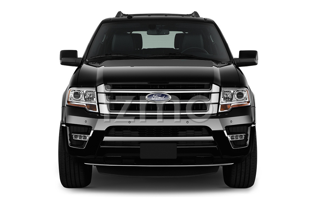 Car photography straight front view of a 2016 Ford Expedition Limited 5 Door SUV Front View