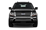 Car photography straight front view of a 2017 Ford Expedition Limited 5 Door SUV Front View