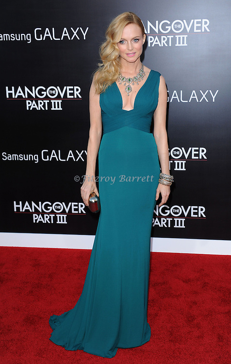 "Heather Graham at the Los Angeles premiere of ""The Hangover Part 3"" held at Westwood Village Theater on May 20, 2013."