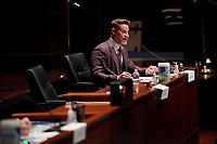 United States Representative Greg Steube (Republican of Florida) asks questions during a US House Judiciary Committee hearing to discuss police brutality and racial profiling on Wednesday, June 10, 2020.<br /> Credit: Greg Nash / Pool via CNP/AdMedia