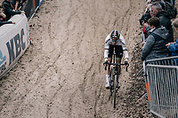 CX world champion Wout Van Aert (BEL/Crelan-Charles)<br /> <br /> Men's Elite race<br /> <br /> UCI cyclocross World Cup Koksijde / Belgium 2017