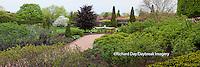 63821-22606 Peace Garden and fountain in spring, Chicago Botanic Garden, Glencoe, IL