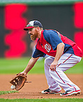 21 May 2014: Washington Nationals first baseman Adam LaRoche fields grounders prior to a game between the Cincinnati Reds and the Washington Nationals at Nationals Park in Washington, DC. The Reds edged out the Nationals 2-1 to take the rubber match of their 3-game series. Mandatory Credit: Ed Wolfstein Photo *** RAW (NEF) Image File Available ***