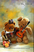 Interlitho, Alberto, CUTE ANIMALS, teddies, photos, 2 teddies, guitar(KL15214,#AC#)