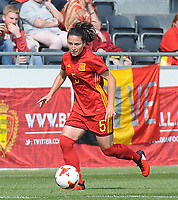 20170408 - EUPEN ,  BELGIUM : Spanish Ivana Andres  pictured during the female soccer game between the Belgian Red Flames and Spain , a friendly game before the European Championship in The Netherlands 2017  , Saturday 8 th April 2017 at Stadion Kehrweg  in Eupen , Belgium. PHOTO SPORTPIX.BE | DIRK VUYLSTEKE